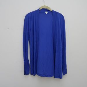 Womens J.CREW Blue Open Front Cardigan Size S